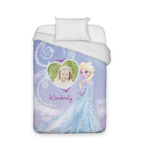 Disney Frozen Elsa Duvet Cover, Duvet, Duvet Cover w/ White Back, Twin, Purple