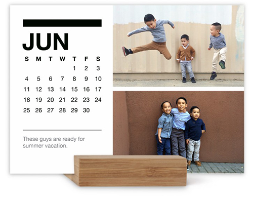Classic Black And White Easel Calendar By Yours Truly  Shutterfly