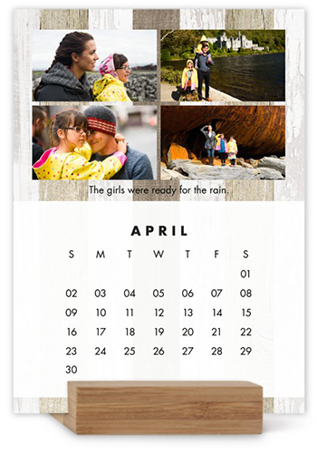 Neutral Gallery Easel Calendar By Yours Truly  Shutterfly