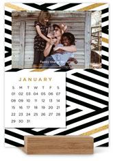 gilded patterns easel calendar