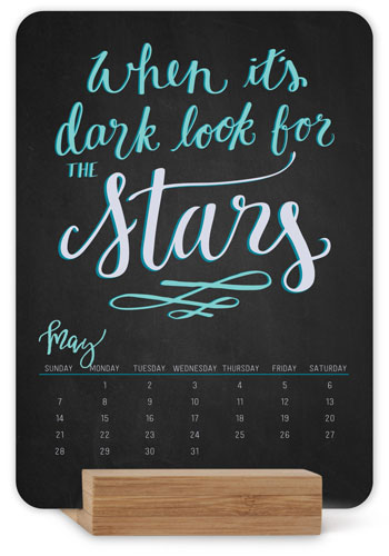 Inspirational Quotes Easel Calendar, Multicolor