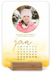 watercolor ombre easel calendar