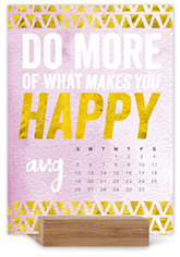 words to live by easel calendar