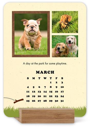 In Dog Years Easel Calendar