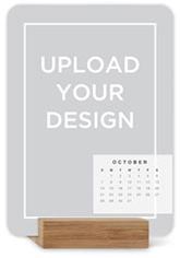 upload your own design portrait easel calendar