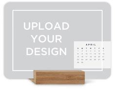 upload your own design landscape easel calendar