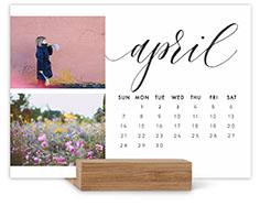 elegant script easel calendar