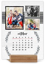 rustic charm easel calendar
