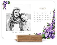 painted florals easel calendar