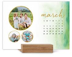 watercolor ombre landscape easel calendar