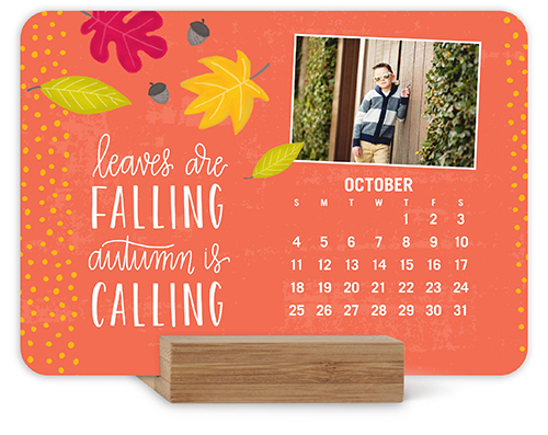 seasonal sentiments easel calendar