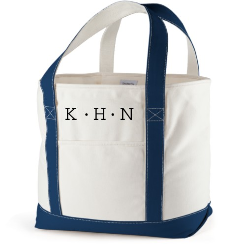 Dotted Monogram Canvas Tote Bag