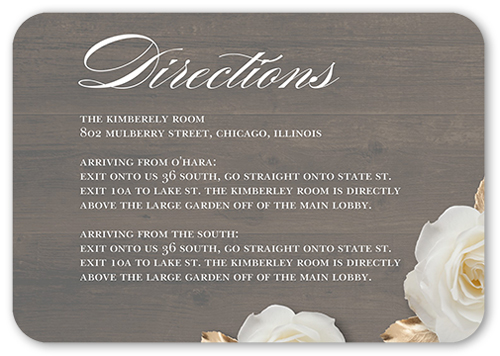 Flowering Fondness Enclosure Cards Wedding Enclosures Shutterfly