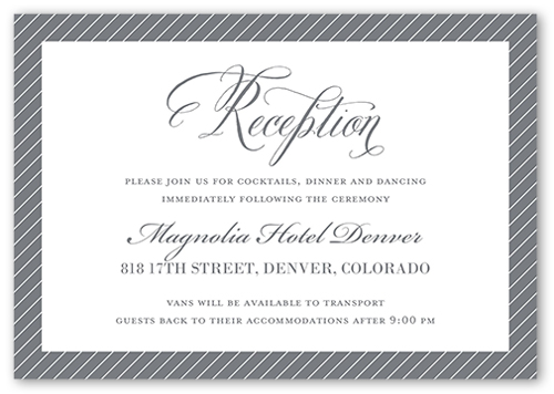 Elegant Ever After Wedding Enclosure Card