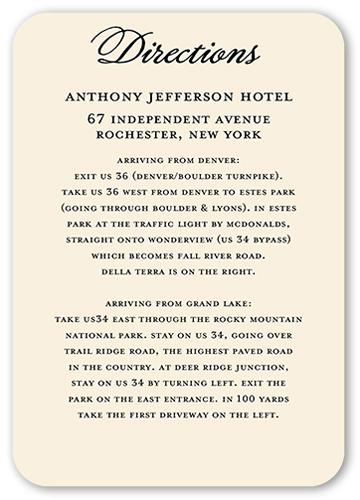 Gilded Union Wedding Enclosure Card