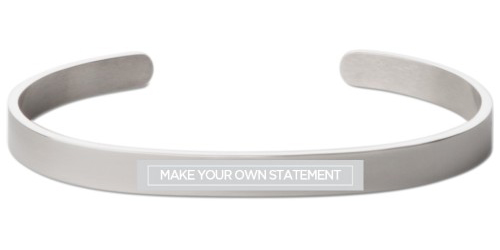 Make Your Own Statement Engraved Cuff