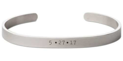 Milestone Date Engraved Cuff