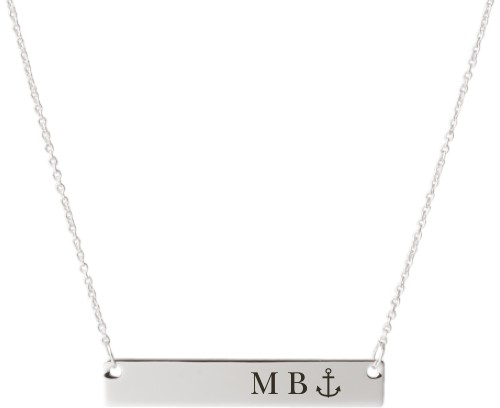 6f575e8421628 Anchor Engraved Bar Custom Engraved Necklace | Shutterfly