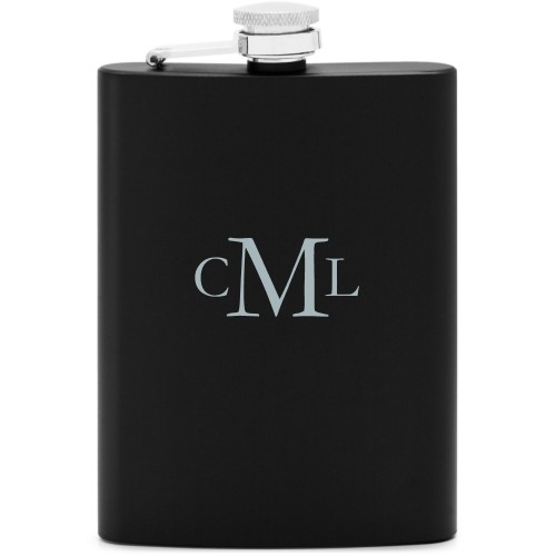 three letter monogram personalized flasks shutterfly