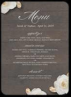 flowering fondness wedding menu