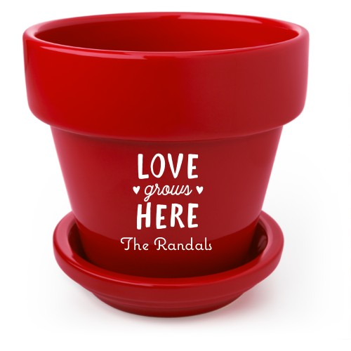 Love Grows Flower Pot