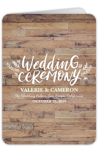 Love And Laughter Forever Wedding Program