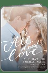 lovely scripted wedding program