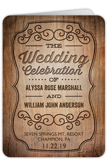 rustic romance wedding program