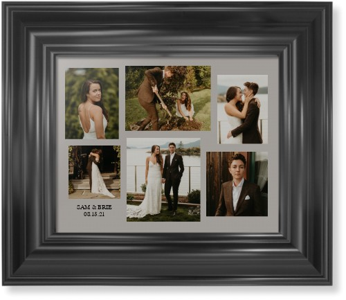 Gallery Collage of Six Framed Print, Black, Classic, None, None, Single piece, 8 x 10 inches, ...