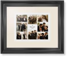 modern family collage framed print