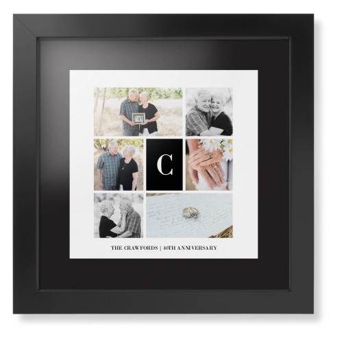 Classic Initial Collage Framed Print