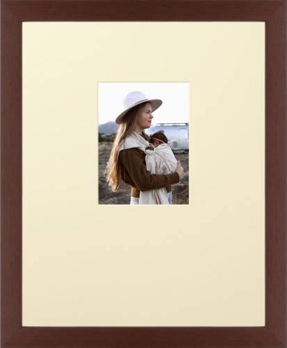 Prints By Deluxe: Offset Rectangle Portrait Deluxe Mat Framed Print