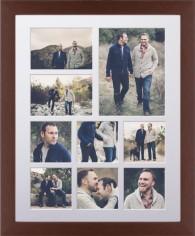 hero nine up portrait deluxe mat framed print