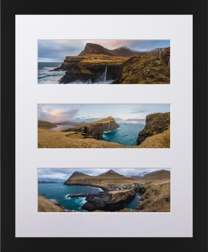 Prints By Deluxe: Panoramic Three Up Deluxe Mat Framed Print