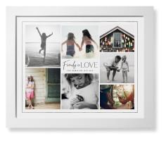 modern family love collage framed print