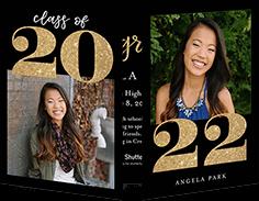 elegant year collage graduation announcement
