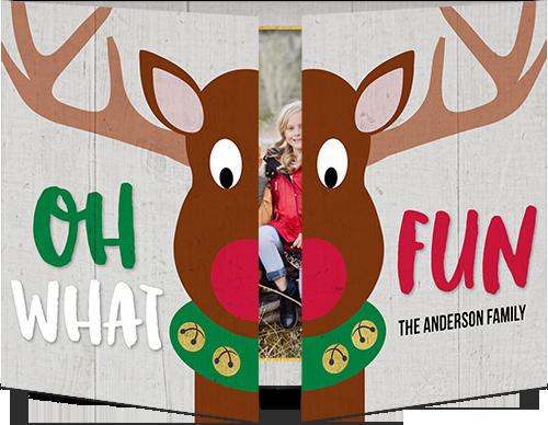reindeer fun christmas card