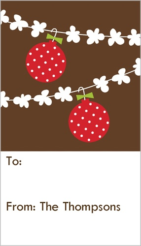 Goody Garland Gift Tag