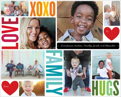 Family Hugs And Kisses Gift Wrap