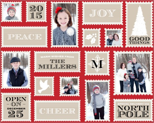 Holiday Stamps Gift Wrap