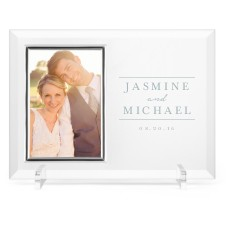 simple lines glass frame