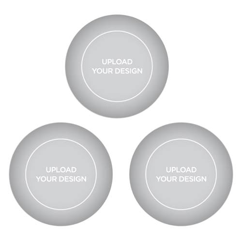Upload Your Own Design Set of 3 Glass Magnets