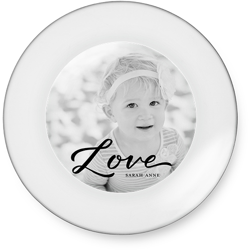 Scripted Love Memory Catch All Tray, 7x7, Black