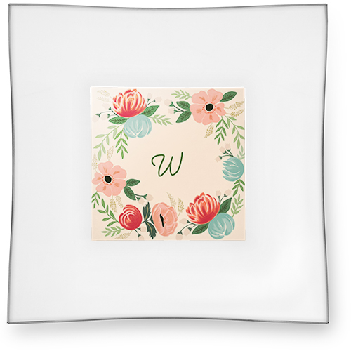 Hand Drawn Floral Catch All Tray, 6x6, DynamicColor