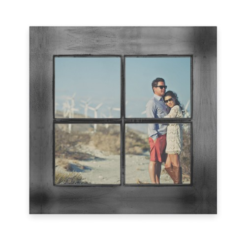 Windowpane Frame Flat Glass Print