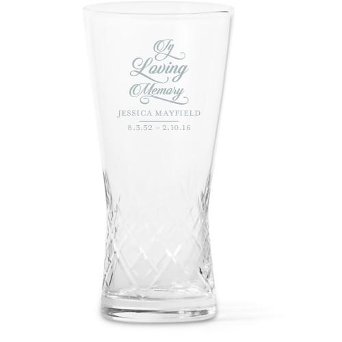 In Loving Memory Glass Vase