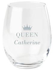 crown queen wine glass