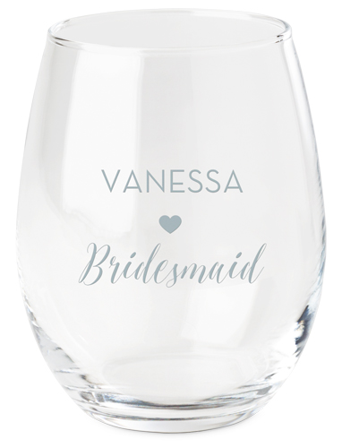 Bridal Cheers Wine Glass, White