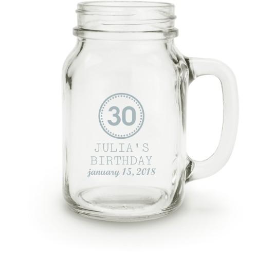 Birthday Celebration Mason Jar, White