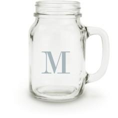 big initial mason jar